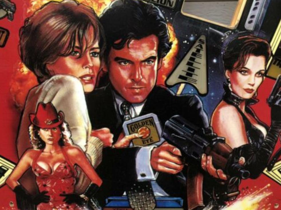 Sega Goldeneye James Bond 007 Flipperi-pelikenttä.